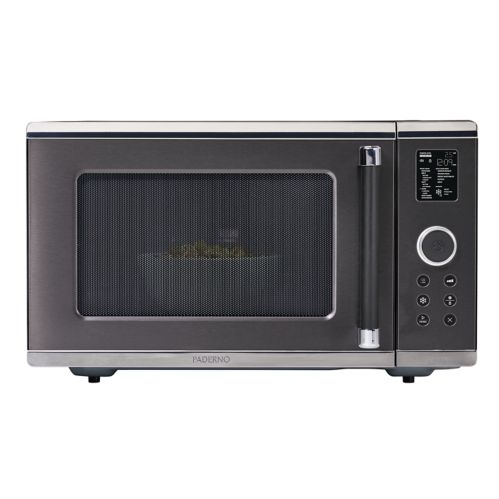 PADERNO 1.6 cu.ft Microwave with Even-Heat Inverter, Black Stainless Steel