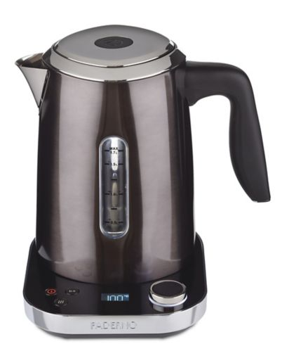 PADERNO Variable Temperature Kettle, Black Stainless Steel, 1.7-L