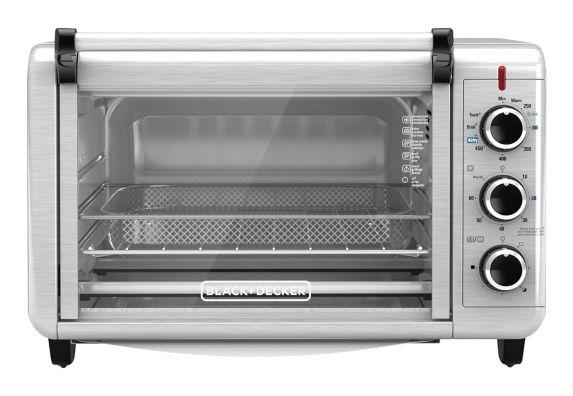 Black & Decker Crisp 'N Bake Air Fryer Toaster Oven, 6-Slice