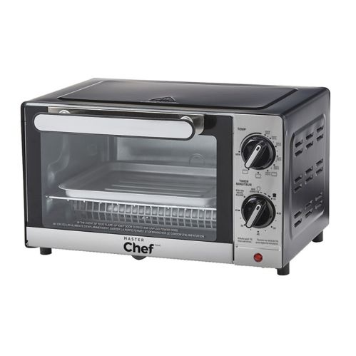 MASTER Chef Stainless Steel Toaster Oven, 4-Slice