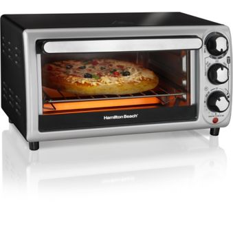 Hamilton Beach Toaster Oven, 4-Slice on