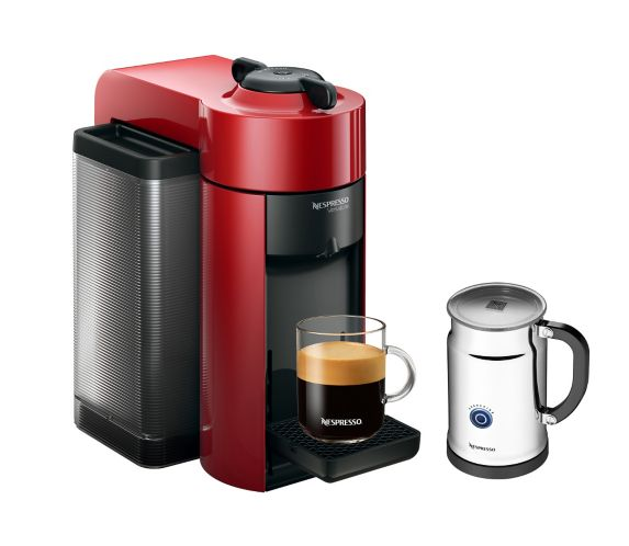 Nespresso Vertuo Evoluo Espresso & Coffee Maker Bundle, Red Product image