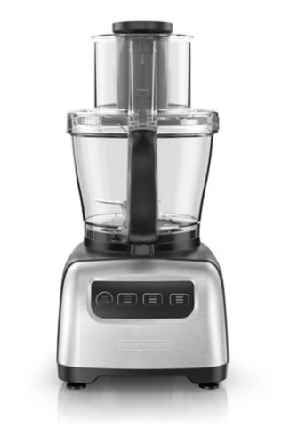 Black & Decker Kitchen Tools Square Stainless Steel Food Processor, 10-Cup