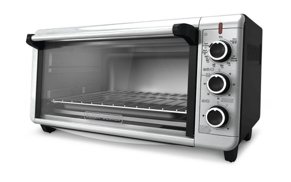 Black Amp Decker Extra Wide Convection Toaster Oven
