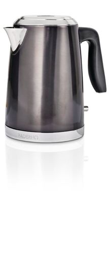 PADERNO Electric Kettle, Black Stainless Steel, 1.7-L