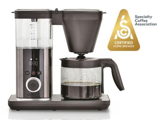 Cafetière à extraction équilibrée PADERNO, acier inoxydable noir, 9 tasses, certifiée SCA