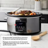 PADERNO Programmable Slow Cooker, Black Stainless Steel, 6-qt | Padernonull
