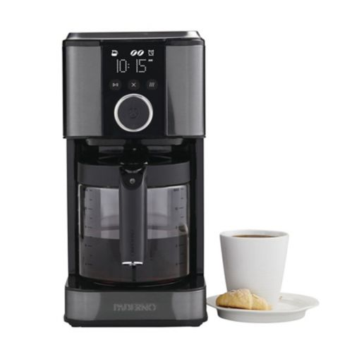 PADERNO 12-Cup Coffee Maker, Black Stainless Steel Product image
