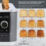 Grille-pain à chaleur uniforme PADERNO, 2 tranches, acier inoxydable noir | Padernonull