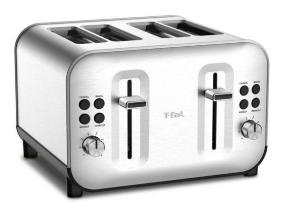 T-fal Element Stainless Steel Toaster, 4-Slice