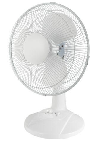 For Living Oscillating Desk Fan, 12-in