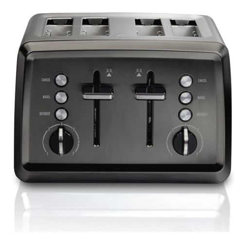 Hamilton Beach Elite Toaster, Black Stainless Steel, 4-Slice