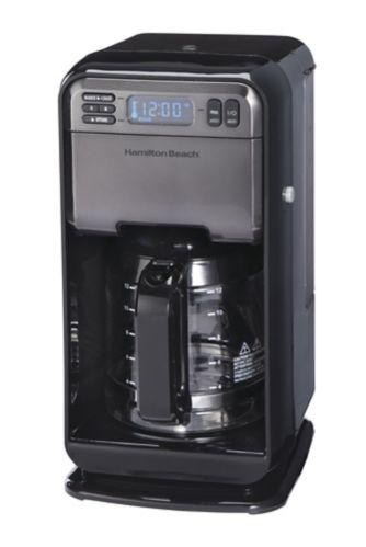 Hamilton Beach Elite Programmable Coffee Maker, Black/Stainless Steel, 12-Cup