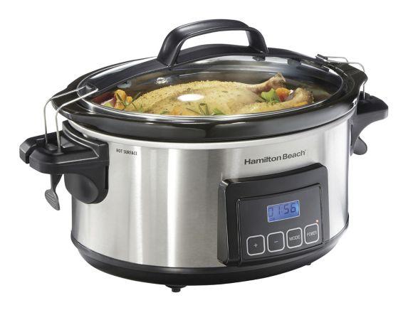 Hamilton Beach Elite Set N' Forget Oval Slow Cooker, 6-qt Product image