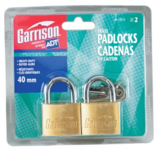 40 mm Padlock Set with 4 Keys for securing and Locking Even Outdoors 3.5 x 28 x 14 mm Steel Chain Choice of Lengths 0.5 m to 5 m