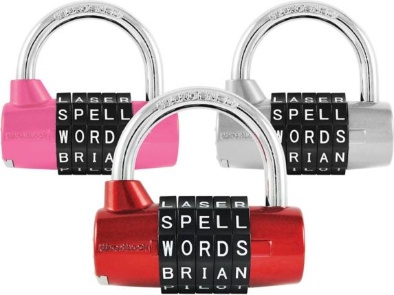 WordLock Word Combination 5-DialPadlock, Assorted Product image