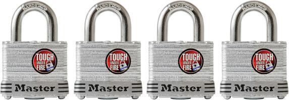 Master Lock 40-mm Laminated Padlock, 4-pk Product image