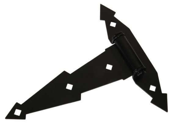 Hillman 851659 T-Hinge Ornament, Black, 8-in Product image