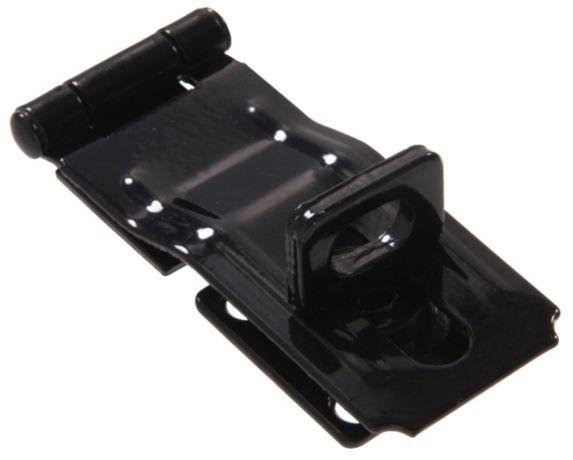 Moraillon de sûreté fixe verrouillable, noir, 3,5 po Image de l'article