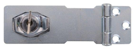 Moraillon à clé, galvanisé, 3,5 po Image de l'article