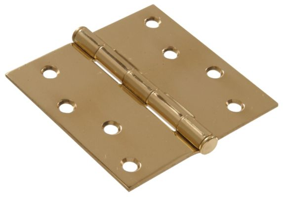 Square Hinge, Solid Brass, 4 x 4-in Product image