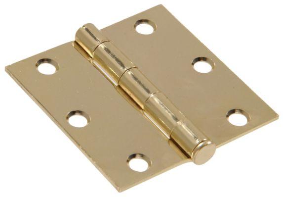 Charnière carrée en laiton plaqué, 3 x 3 po, 10 pces Image de l'article