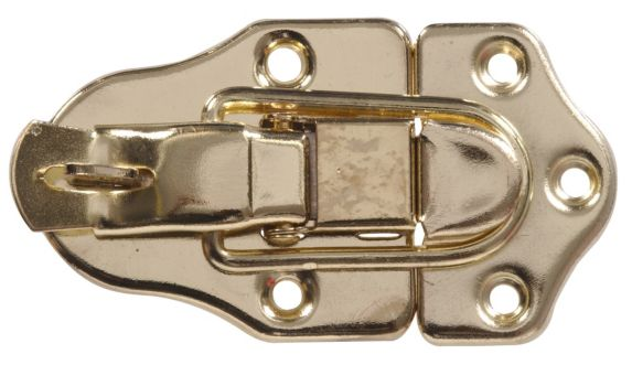 Drawer Catch With Eye, Brass-Plated Product image