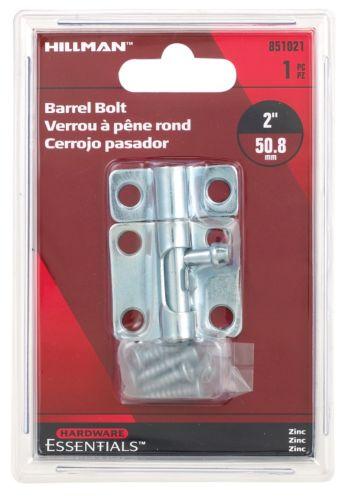 Barrel Bolt, Zinc-Plated Product image