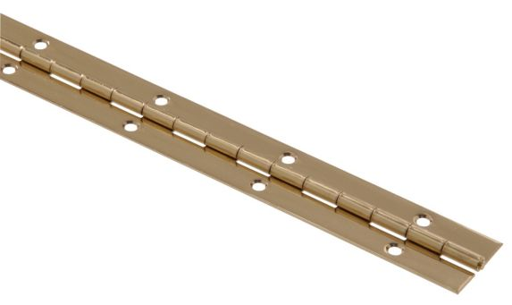 Hardware Essentials Continuous Hinge, Brass-Plated Product image