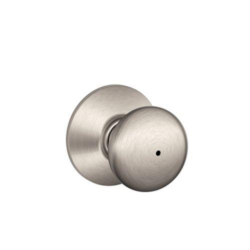 Poignée de porte intimité Schlage Plymouth, nickel satiné Image de l'article