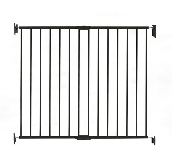 Regalo Top Of Stairs Metal Baby Gate Extra Tall Black