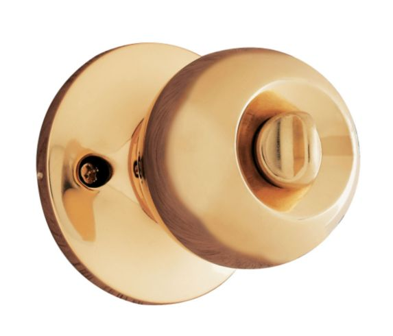 Brinks Privacy Ball Knob, Polished Brass Product image