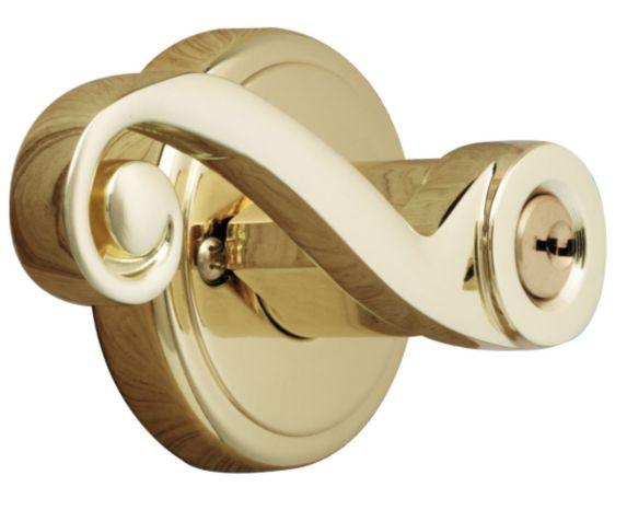 Brinks Keyed Entrance Lever, Polished Brass Product image