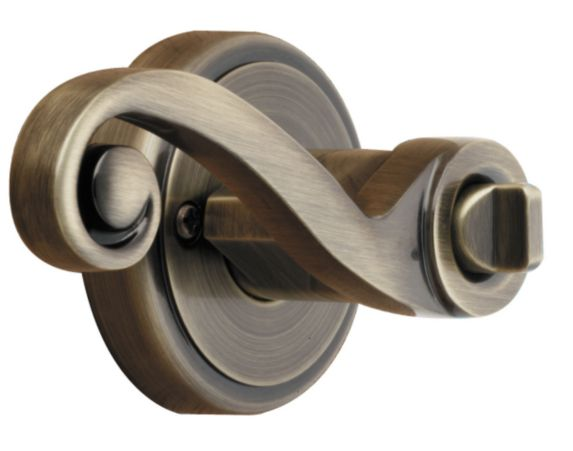 Brinks Privacy Lever, Antique Brass Product image