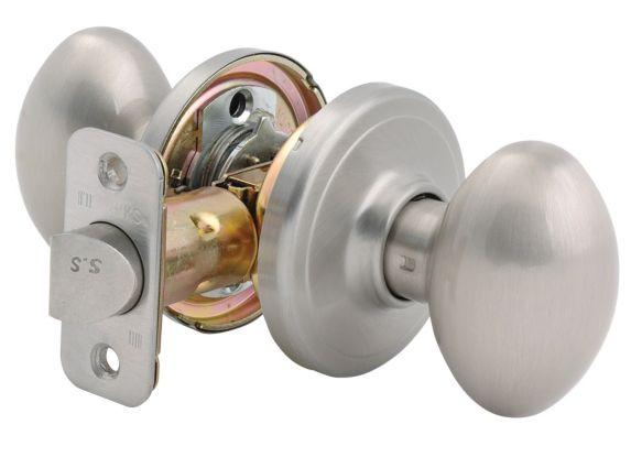 Brinks Emily Oval Passage Door Knob, Satin Nickel Product image