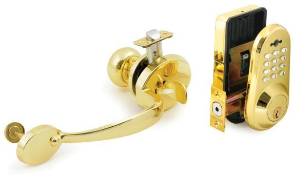 Ensemble poignée-serrure sans clé Brinks, doré Image de l'article