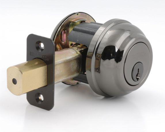 Brinks Deadbolt Lock, Polished Brass Product image