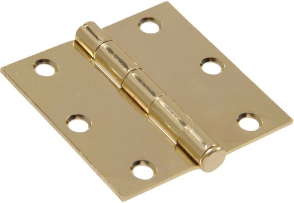 Hillman 852818 Residential Square Door Hinge, Brass-Plated Product image