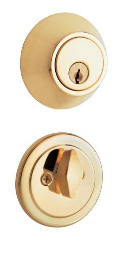 Serrure à pêne dormant EZ Set, laiton poli, 1 cylindre Image de l'article