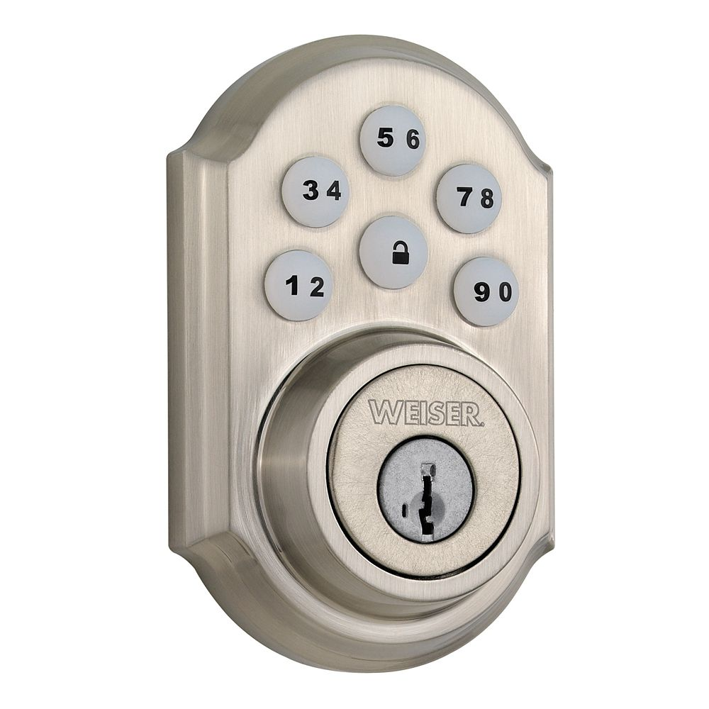 Weiser SmartCode Electronic Lock, Satin Nickel 9GED14900-002
