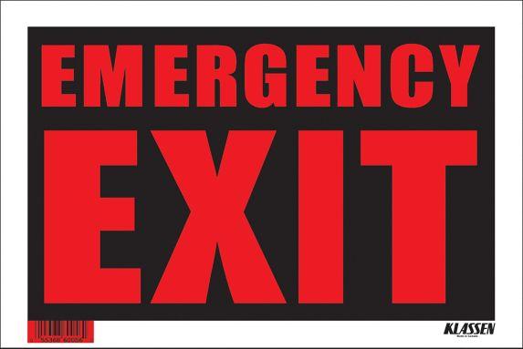 Klassen Emergency Exit Sign, 8 x 12-in Product image