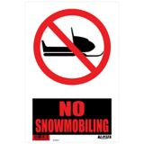 Klassen No Snowmobiling Sign, 8 x 12-in | Ultranull