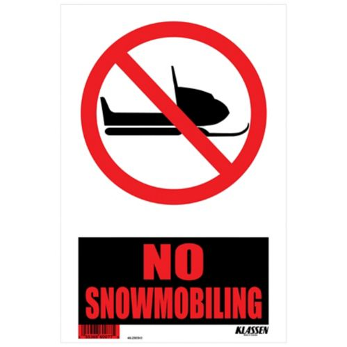 Klassen No Snowmobiling Sign, 8 x 12-in Product image