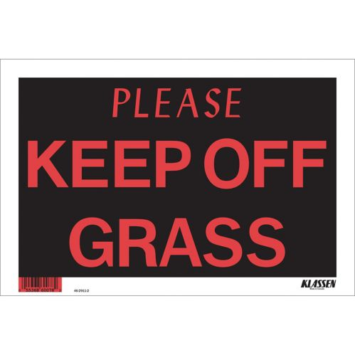 Klassen Please Keep Off Grass Sign, 8 x 12-in Product image