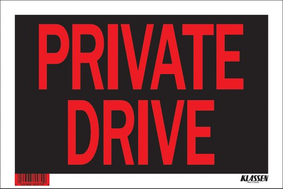 Klassen Private Driveway Sign, 8 x 12-in Product image