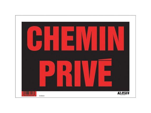 Affiche Chemin privé Klassen (français), 8 x 12 po Image de l'article