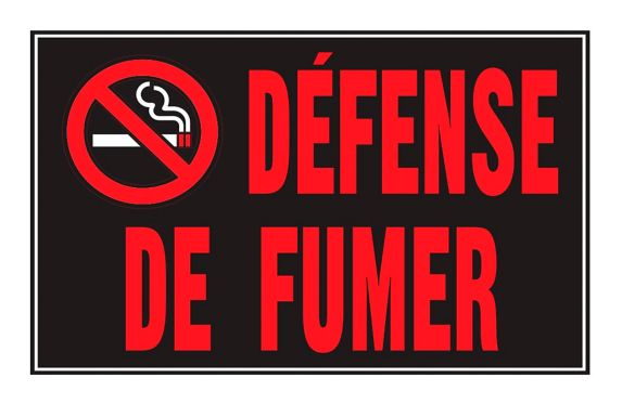 Hillman Défense de Fumer Sign (French), 8-in x 12-in Product image