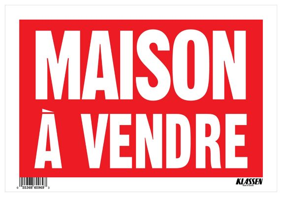 Klassen Maison A Vendre Sign (French), 8 x 12-in Product image