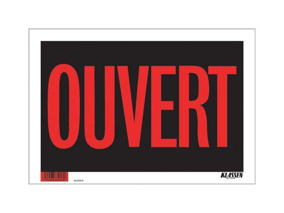 Affiche Ouvert Klassen (français), 8 x 12 po Image de l'article