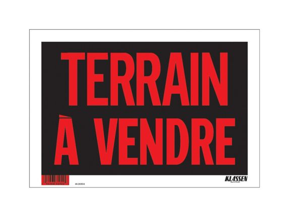 Klassen Terrain A Vendre Sign (French), 8 x 12-in Product image